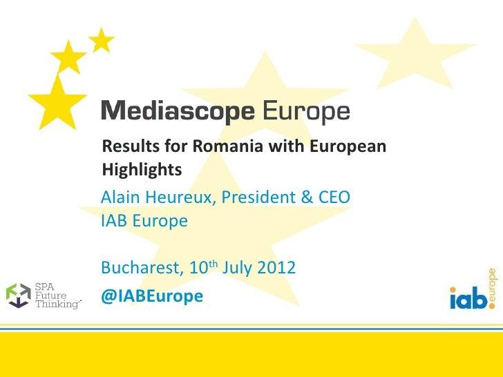 IAB Europe Mediascope 2012 Romania