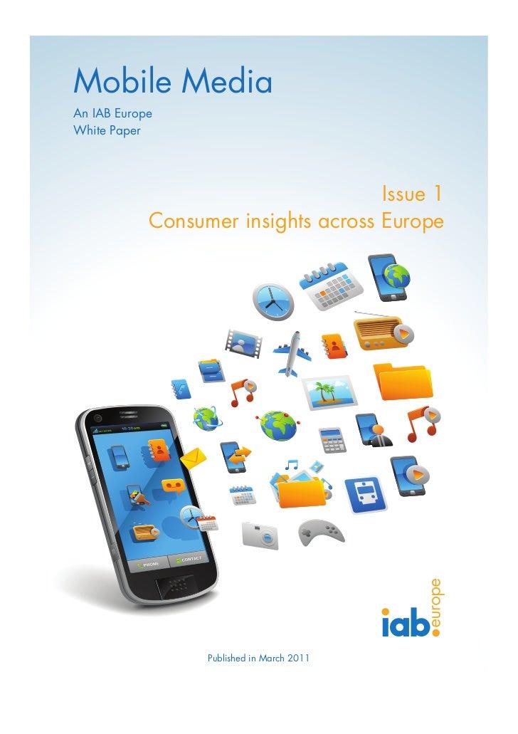 Mobile Media; Consumer Insights across Europe