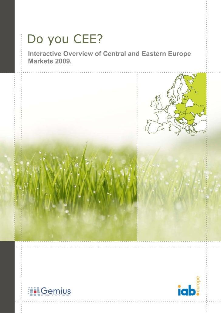 Do You CEE?, IAB/Gemius report, 2009