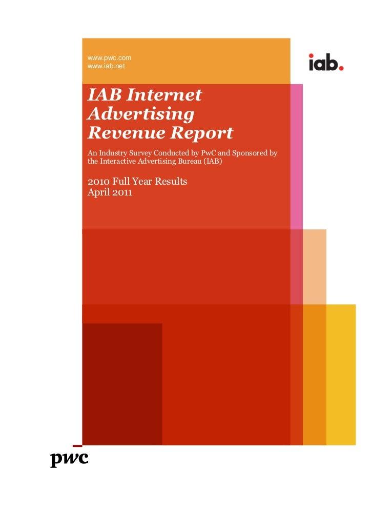 Amerika İnternet Reklam Gelirleri Raporu 2010