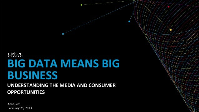 BIG	  DATA	  MEANS	  BIG	  BUSINESS	  UNDERSTANDING	  THE	  MEDIA	  AND	  CONSUMER	  OPPORTUNITIES	  Amit	  Seth	  Februar...