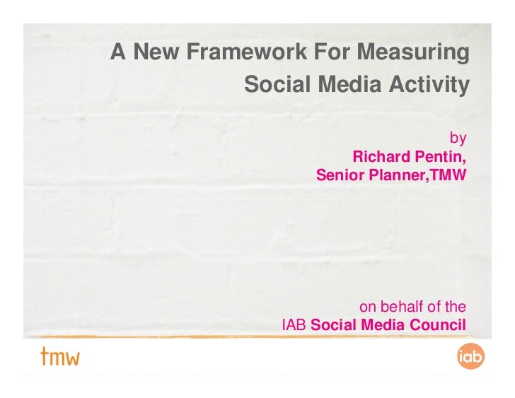 A New Framework For Measuring           Social Media Activity                                      by                     ...