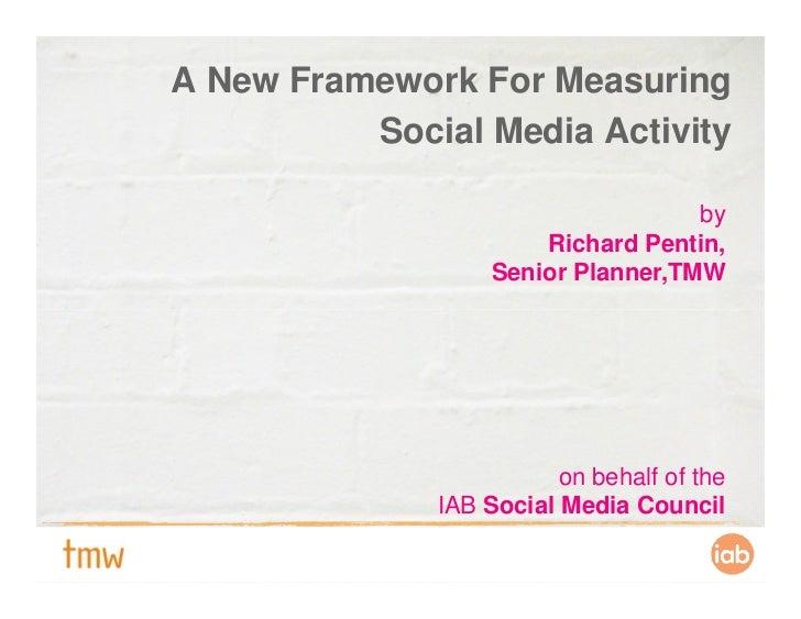 A framework for measuring social media activity