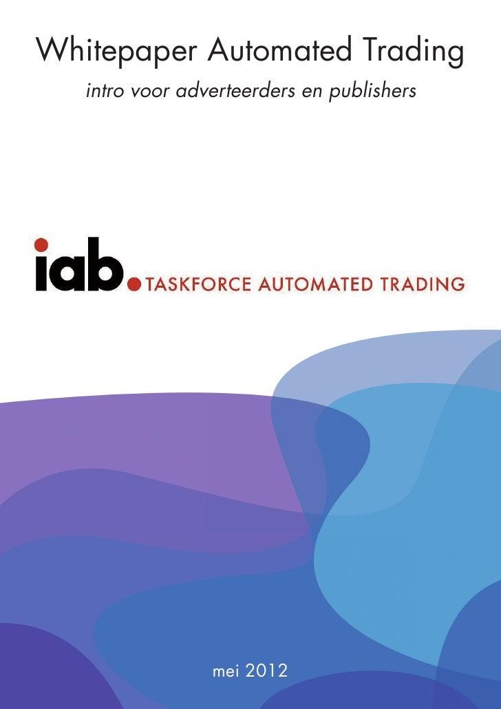 Whitepaper Automated Trading, intro voor adverteerders en publishers