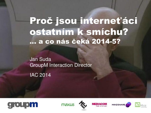 Jan Suda: Proč jsou interneťáci ostatním k smíchu...