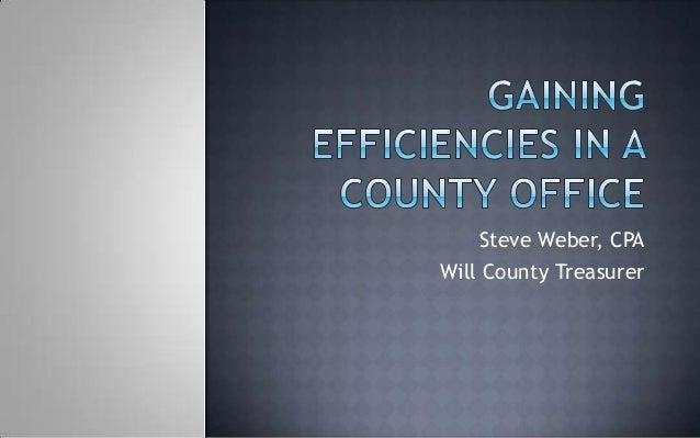 Steve Weber, CPAWill County Treasurer
