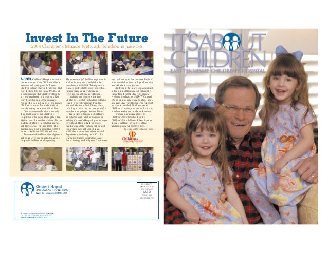 It's About Children - Summer 2004 Issue by East Tennessee Children's Hospital