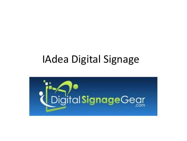 IAdea Digital Signage Players - Open Source Digital Singage Players