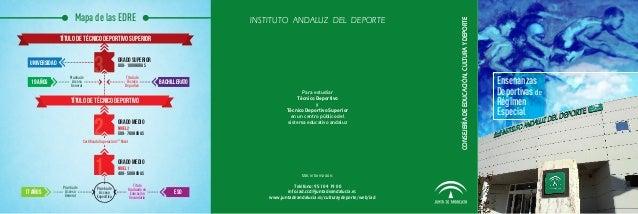 INSTITUTO ANDALUZ DEL DEPORTE  TÍTULO DE TÉCNICO DEPORTIVO SUPERIOR UNIVERSIDAD 19 años  Prueba de Acceso General  3  GRAD...