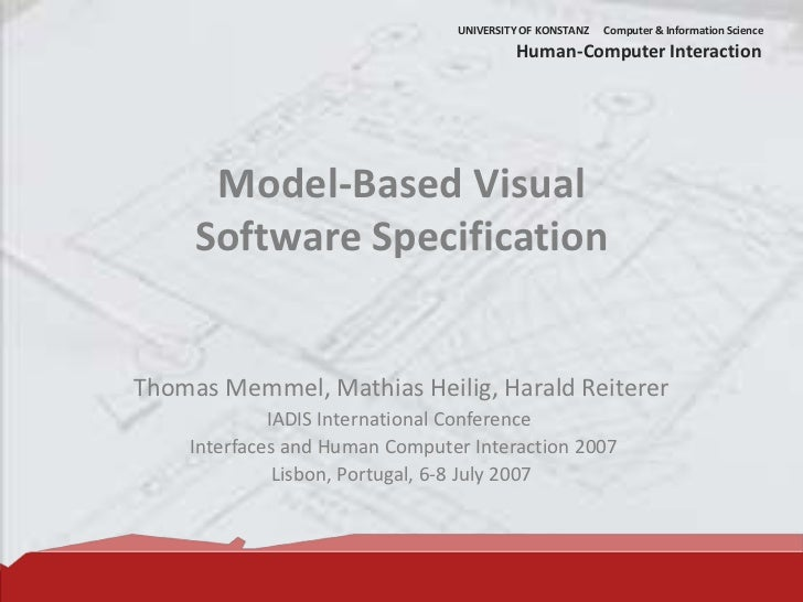 Model-Based Visual Software Specification