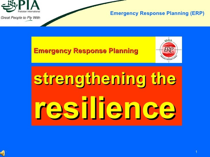 Emergency Response Planning strengthening the resilience
