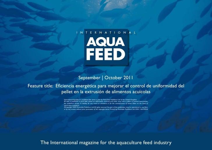 September | October 2011Feature title: Eficiencia energética para mejorar el control de uniformidad del                  p...