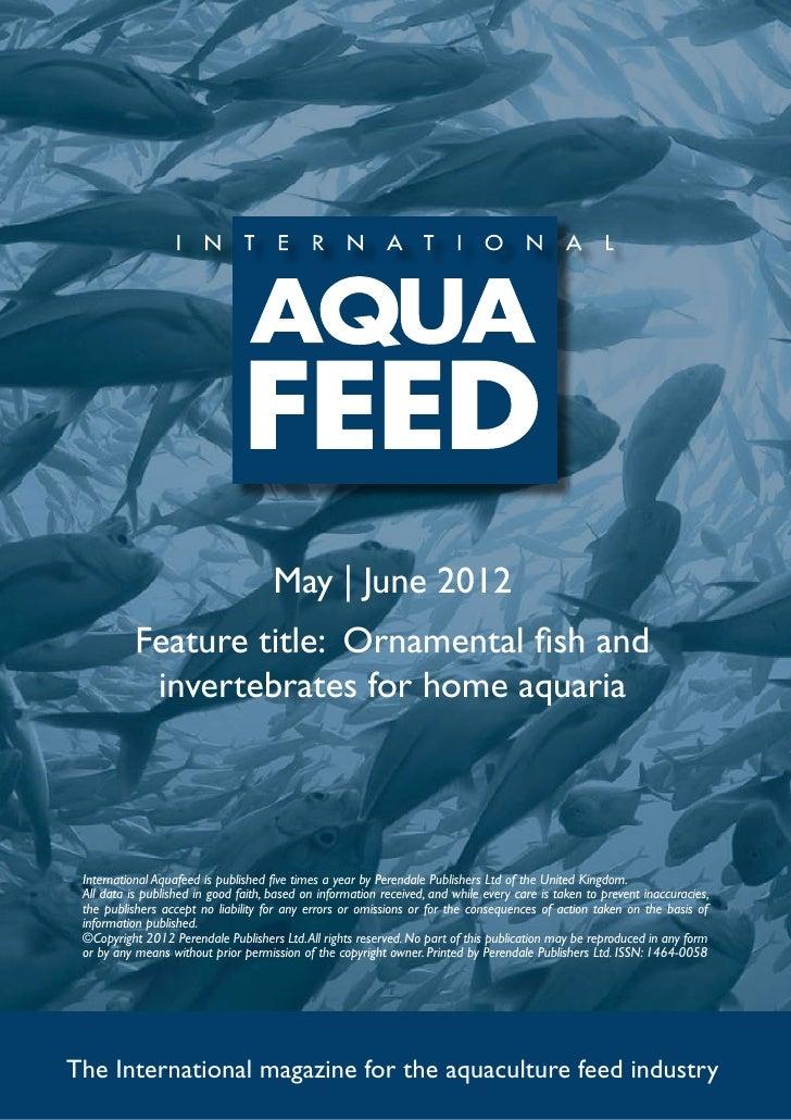 Ornamental fish and invertebrates for home aquaria