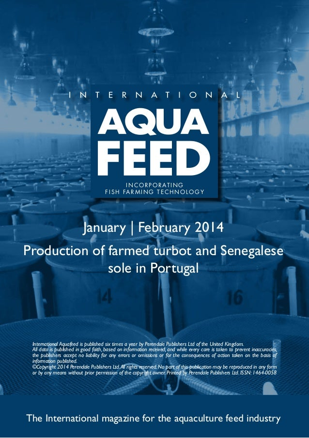 Production of farmed turbot and Senegalese sole in Portugal