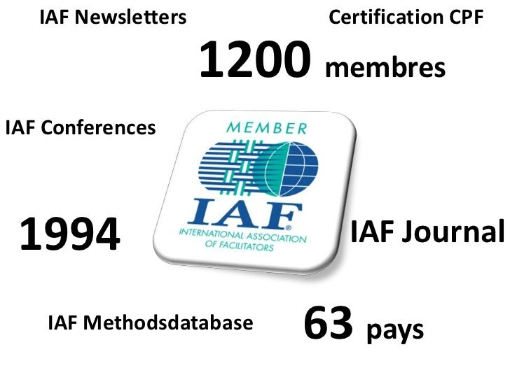IAF Newsletters         Certification CPF                     1200 membresIAF Conferences 1994                        IAF ...