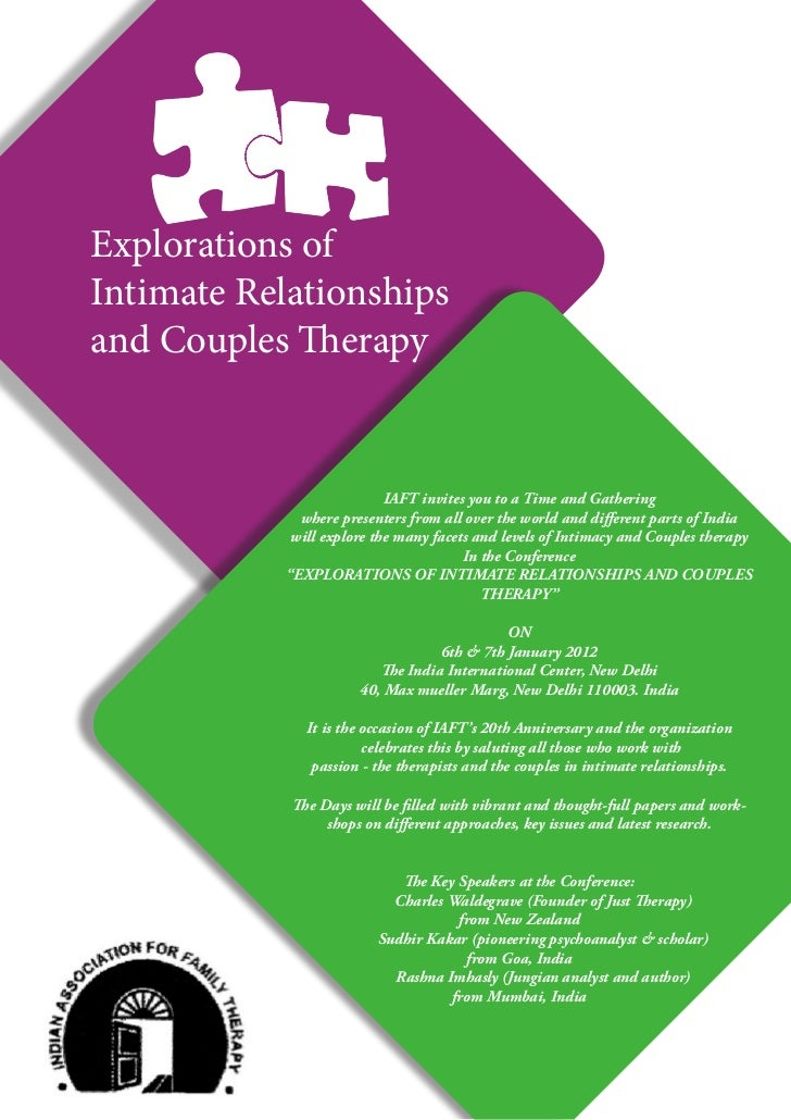 Explorations ofIntimate Relationshipsand Couples Therapy                            IAFT invites you to a Time and Gatheri...