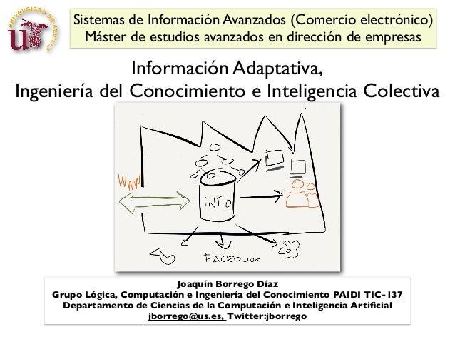 Sistemas de Información Avanzados (Comercio electrónico) Máster de estudios avanzados en dirección de empresas  Informació...