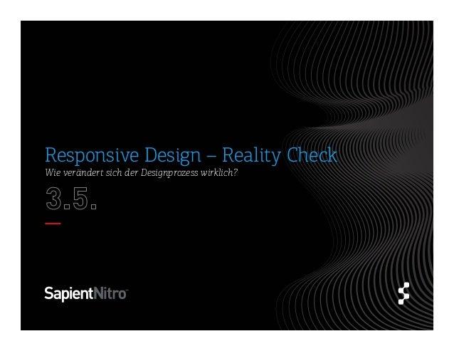 Wie verändert sich der Designprozess wirklich?Responsive Design – Reality Check