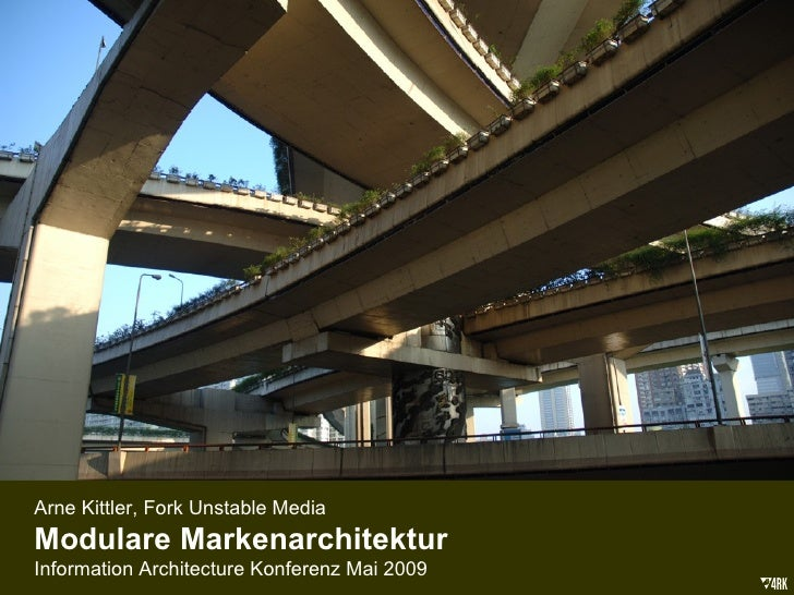 Modulare Markenarchitektur (IA Konferenz 2009)
