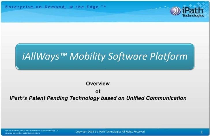 Enterprise Mobility Software Platform: iAllWays(tm)