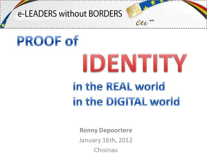 Proof of identity in the real and virtual worlds