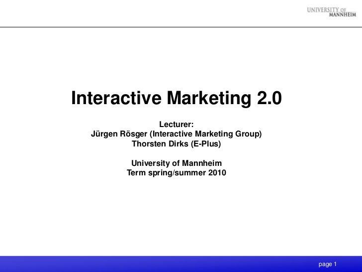 Interactive Marketing 2.0