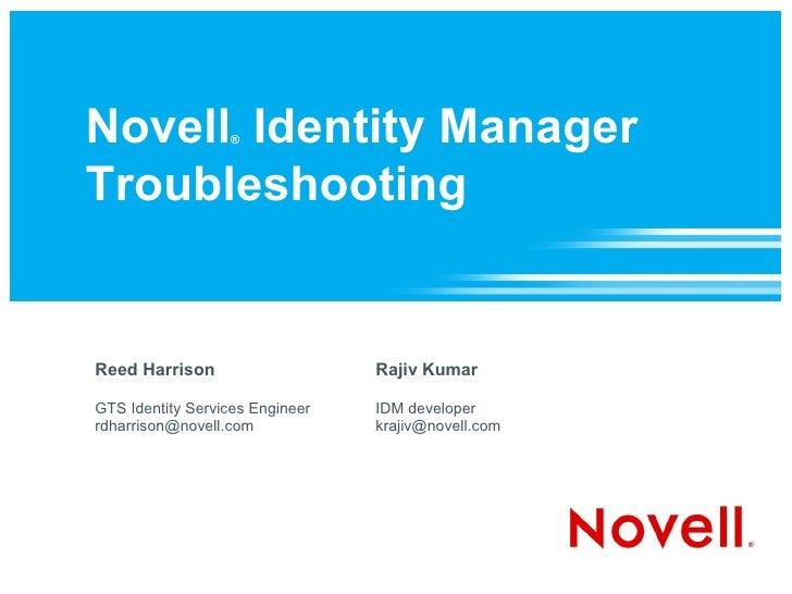 Novell Identity Manager Troubleshooting