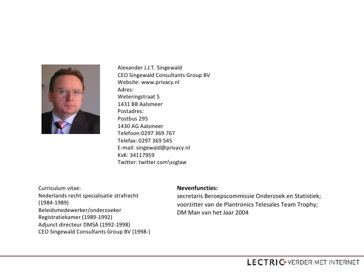 Internetrecht presentatie - Alexander Singewald (LECTRIC)
