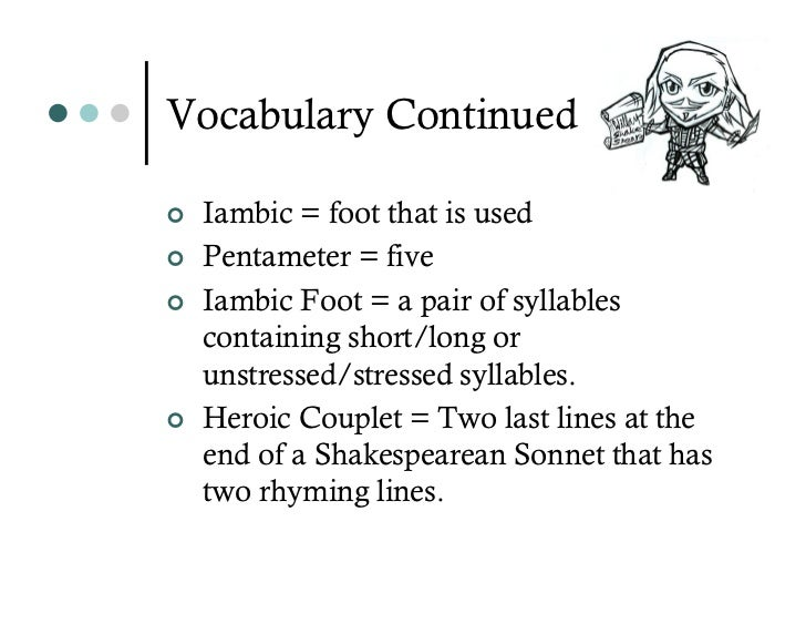 How to write in iambic pentameter rhyming couplets