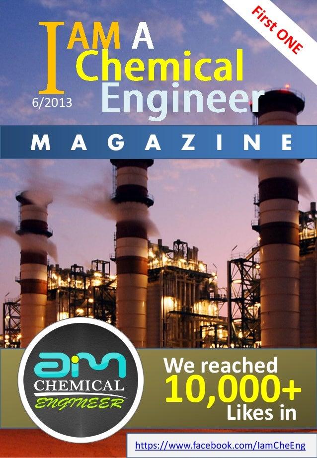 I am chemical engineer magazine 6 2013