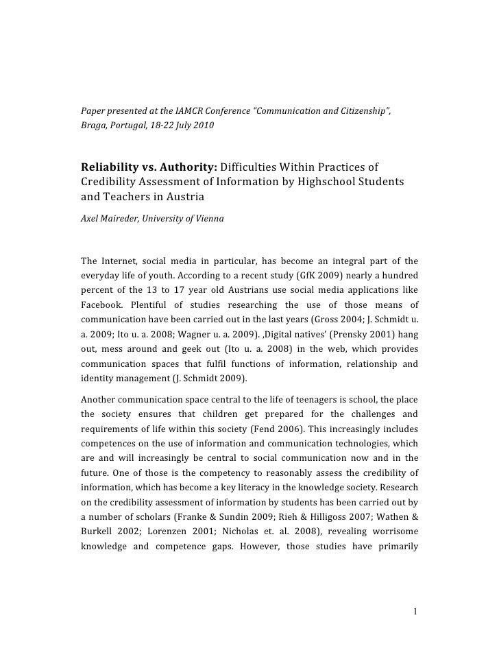"PaperpresentedattheIAMCRConference""CommunicationandCitizenship"",Braga,Portugal,1822July2010Reliabilityvs..."