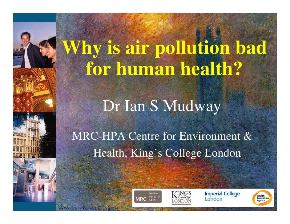 Why air pollution is bad for human health (Cities for Clean Air : London 2012)