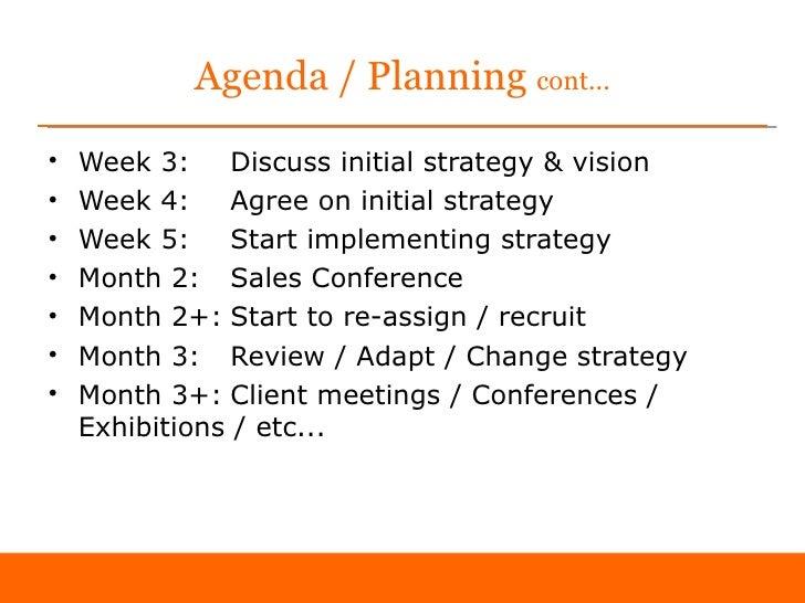Business plan agenda