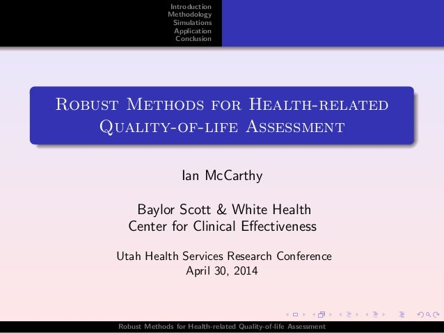 Robust Methods for Health-related  Quality-of-life Assessment
