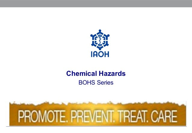Chemical Hazards BOHS Series