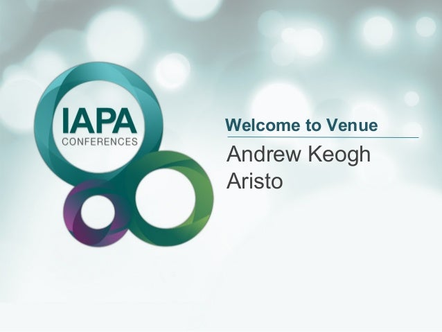 Welcome to Venue  Andrew Keogh Aristo
