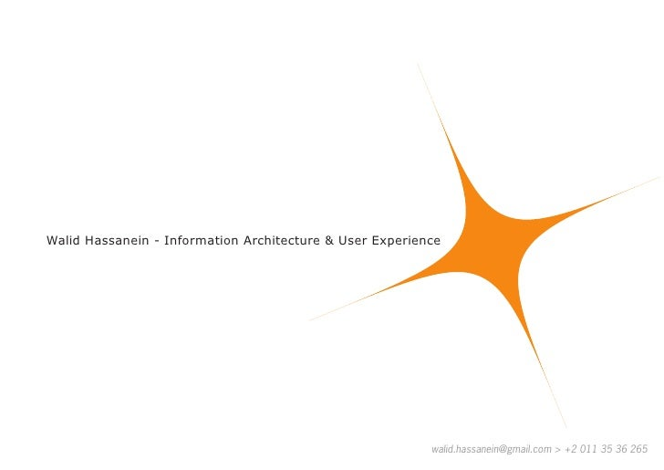 Walid Hassanein - Information Architecture & User Experience                                                              ...
