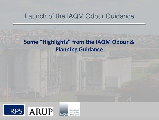 IAQM Odour Launch 2014 Michael Bull