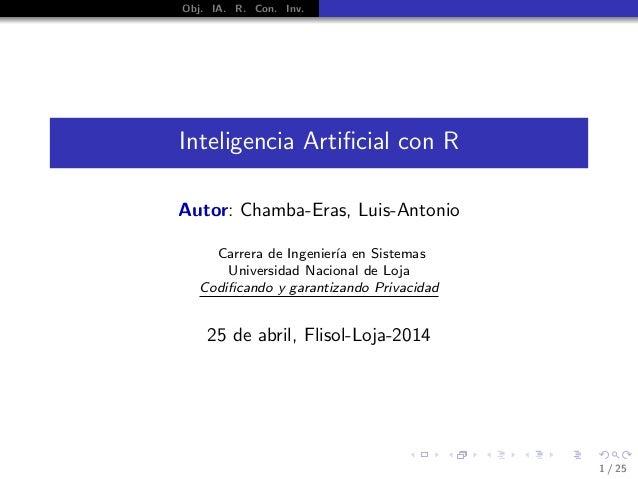 Inteligencia Artificial con R