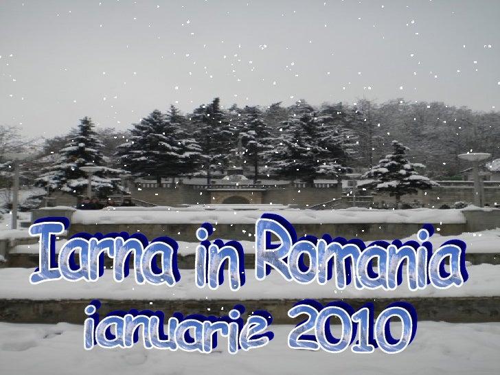 ianuarie 2010 Iarna in Romania