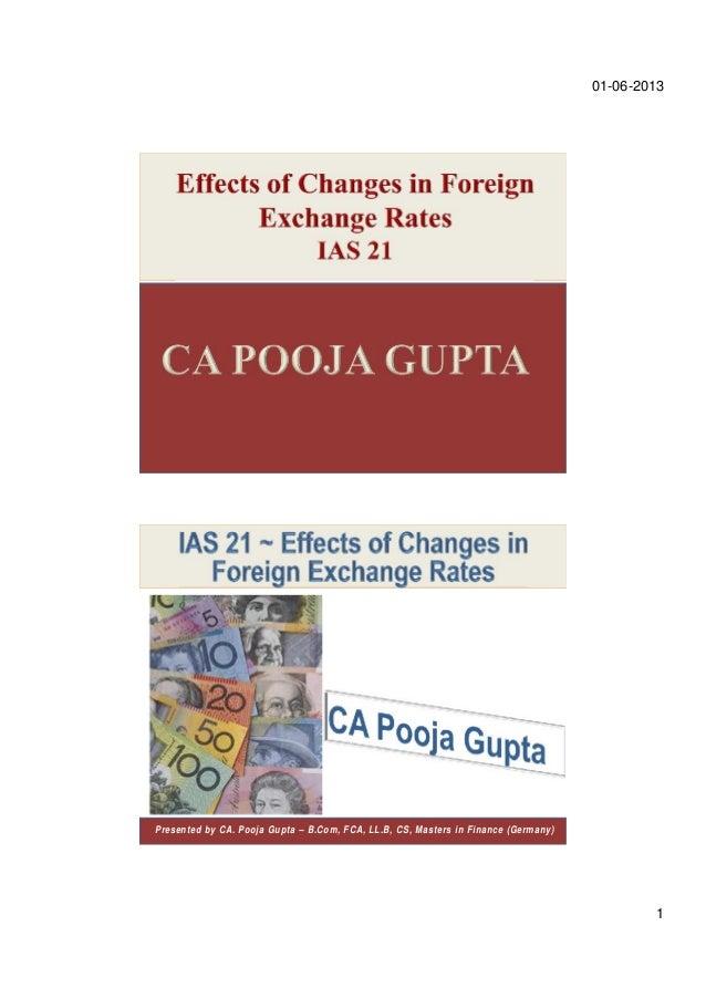 01-06-20131Presented by CA. Pooja Gupta – B.Com, FCA, LL.B, CS, Masters in Finance (Germany)