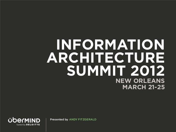 Information Architecture Summit 2012 Recap