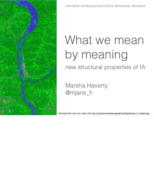 What we mean by meaning new structural properties of for What does architecture mean