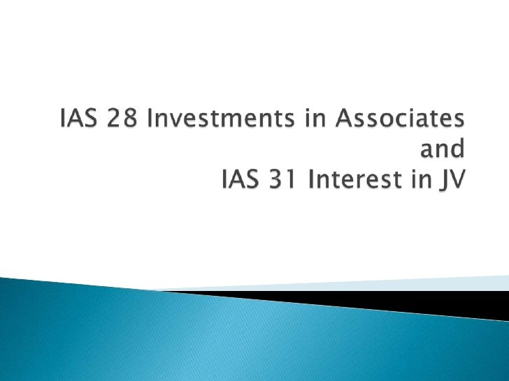 Ias 28 investments in associates