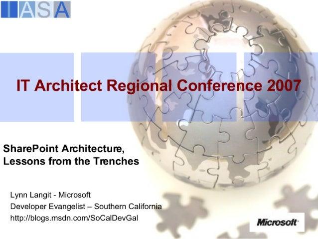 IASA San Diego SharePoint Architecture