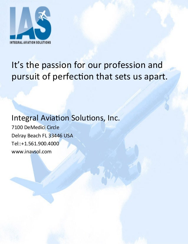 It's the passion for our profession and pursuit of perfec2on that sets us apart.   Integra...