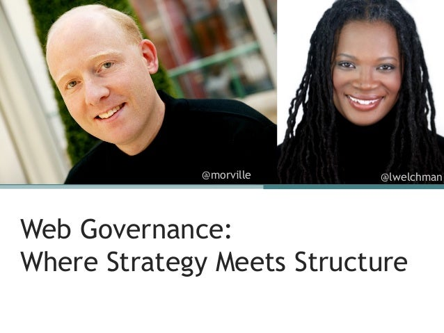 @morville    @lwelchmanWeb Governance:Where Strategy Meets Structure