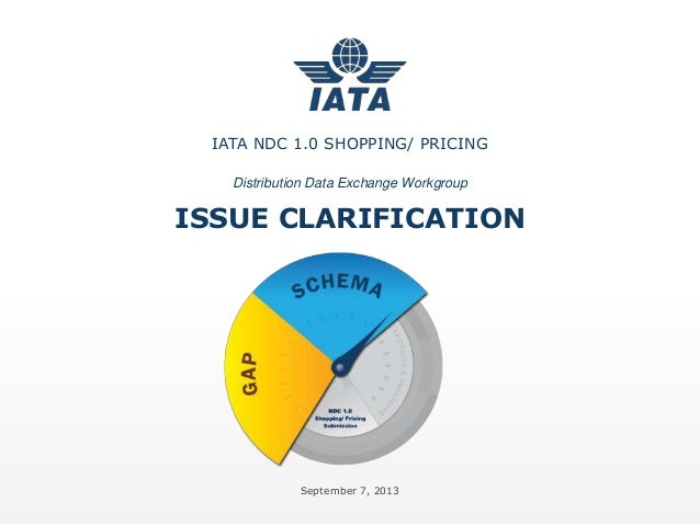 IATA NDC Phase 1 Schema Architecture and Clarifications