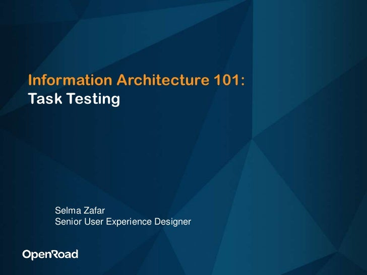Selma Zafar Task Testing