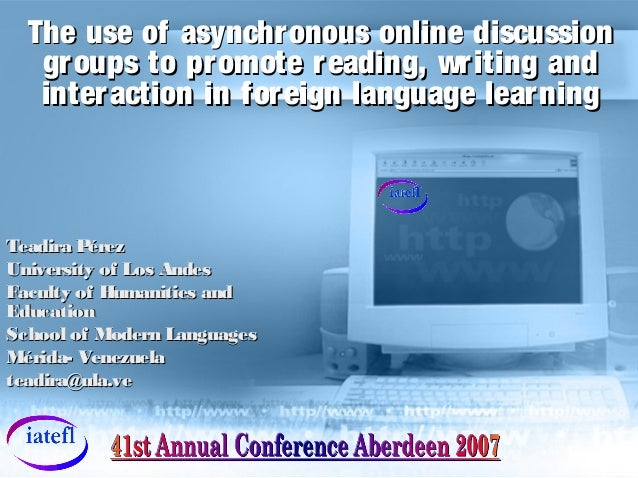 The use of asynchronous online discussionThe use of asynchronous online discussion groups to promote reading, writing andg...